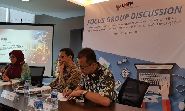 FGD Materi Pelatihan Pengadaan barang/jasa pemerintah berdasarkan perpres 16 tahun 2018