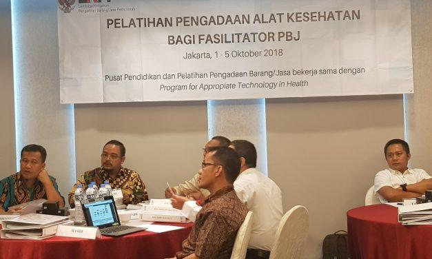 Pelatihan Pengadaan Alat Kesehatan bagi Fasilitatos PBJ – PATH LKPP 2018