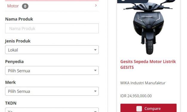 Spesifikasi Produk Inovasi Motor Listrik GESITS